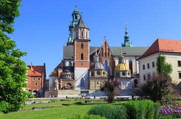 The Royal Castle, Wawel, in Krakow - courtyard side.