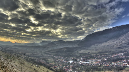Transylvania valley and Remetea village time lapse HDR