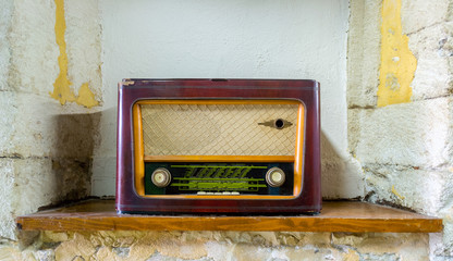 Old retro radio