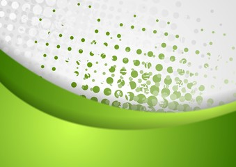 Abstract green grunge wavy background