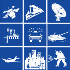 Transport Sector Industry Vectors Icons