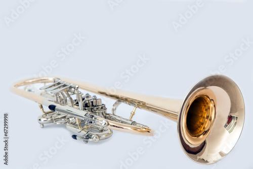 Leinwanddruck Bild Trompete