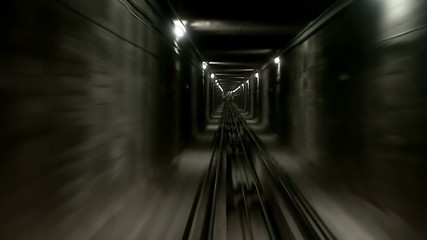 Movement in the single track underground tunnel