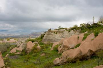 Cappadocia, fantastic mountain landscape