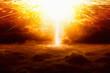 Leinwanddruck Bild - Huge explosion