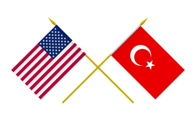 Flags, USA and Turkey