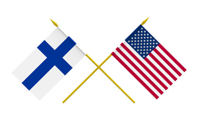Flags, USA and Finland