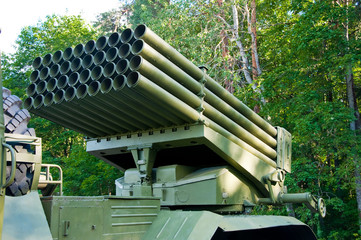 Detail of a Russian BM-21-1.