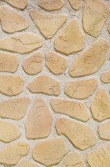 Imitation stone wall closeup