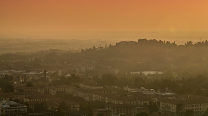 Bergamo Italy sunset time lapse in 4K