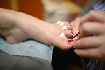 Technical execution of classical pedicure