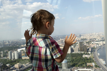 Boy looking at Moscow