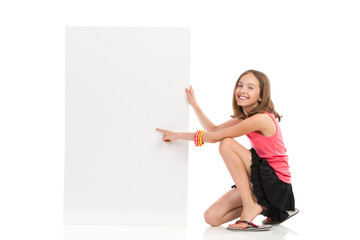 Write your message on blank banner