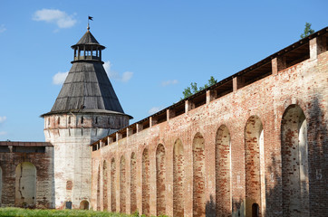 Wall around the Borisoglebskiy monastery, Yaroslavl region