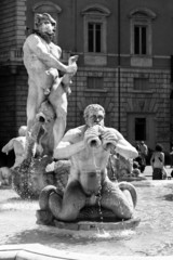 Sculpture on Piazza Navona in Rome