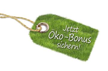 Anhänger mit Wiese und Öko-Bonus