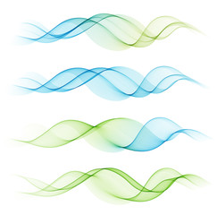 Abstract colorful transparent wave
