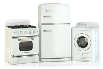 Set of home retro appliances