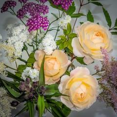 Rosen, Blüten, Arrangement