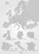 Europakarte mit einzelnen Ländern