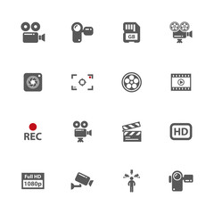 Video icons set.