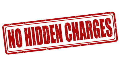 No hidden charges stamp