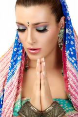 Namaste. Ethnic Woman
