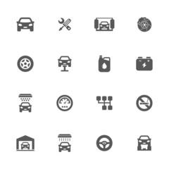 Auto service icons set.