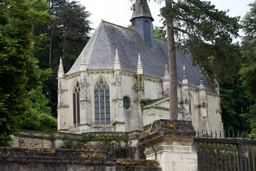 Rigny-Usse - Chapel of castle . Loire Valley, France