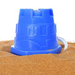 beach bucket on the sand