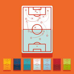 Flat design: playing field