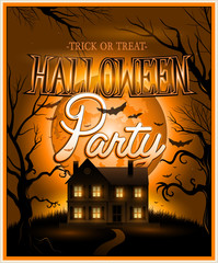 Happy Halloween Poster Vector illustration