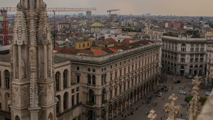 Milan time lapse of streets filled with people 4K