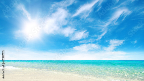 canvas print picture beautiful beach and tropical sea