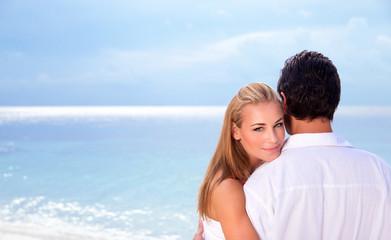 Wedding day on seashore