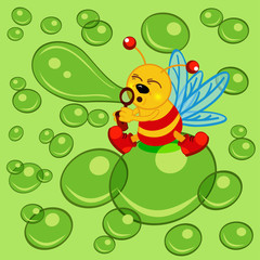 glowworm and bubble - vector  illustration, eps