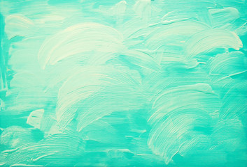 turquoise blue abstract acrylic background