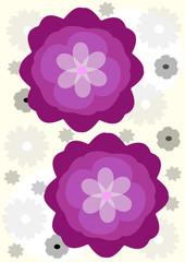 Dos flores lilas