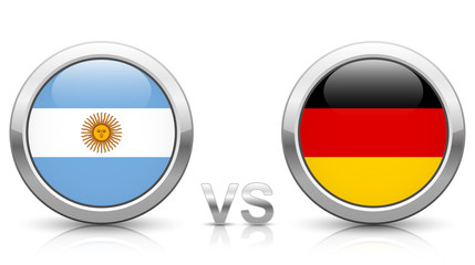 Argentina vs. Germany - icons buttons with national flags