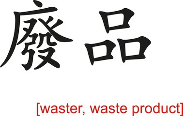 Chinese Sign for waster, waste product