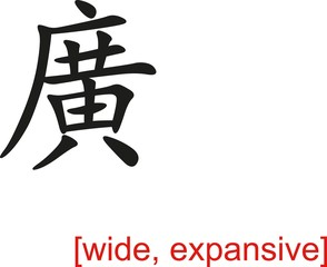 Chinese Sign for wide, expansive