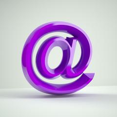 lilac shiny at e-mail symbol