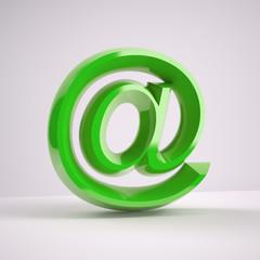 GREEN shiny at e-mail symbol
