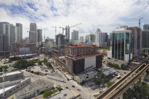 Foto op Canvas Luchtfoto Aerial photo brickell City Center