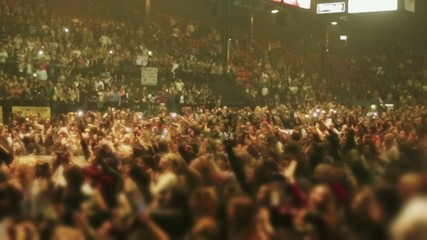 Unrecognizable crowd of people at concert