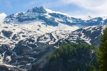 Bergtoppen langs de Stelviopas.Stilfersjoch