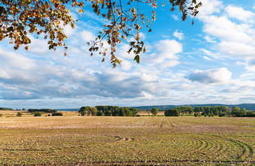 Herbstliche Landschaft, Ackerbau, Landwirtschaft