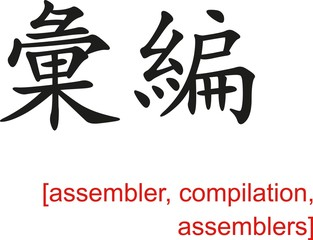 Chinese Sign for assembler, compilation, assemblers