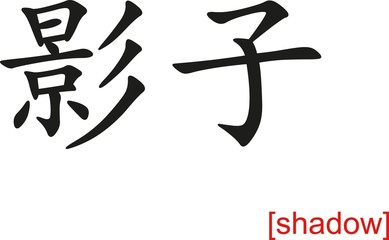 Chinese Sign for shadow