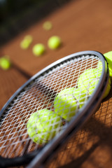Sport, Tennis racket and balls
